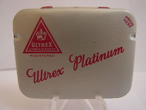 Rare Vintage Ultrex Platinum Condom Tin (Old Stock)