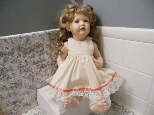 """18"""" JDK 237 Bisque Porcelain Hilda Baby Doll 1980 Germany open mouth"""