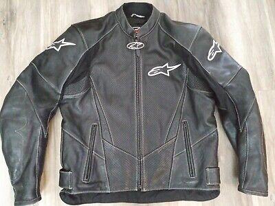 Alpinestars Stage Perforated Leather Jacket - Black (46 US / 56 EUR) rubber icon