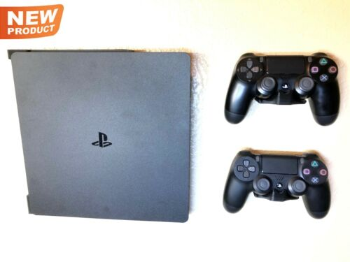 Wall Mount Brackets - PS4 SLIM Console & Controllers - MADE IN USA