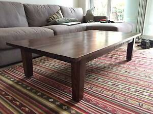 Solid timber coffee table Darling Point Eastern Suburbs Preview