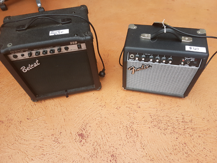 Electric guitar and bass amps