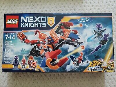NIB LEGO Nexo Knights Macy's Bot Drop Dragon, 3 minifigures, 70361 RETIRED