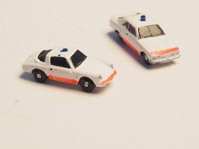 Z-scale A.Troger Modellbau 2 ambulance  department cars