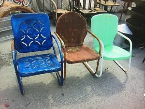 Vintage outdoor patio chairs