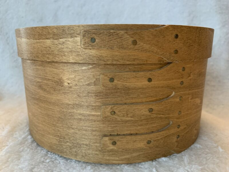 Shaker Maple 2 Stacking Round Boxes Hand Made Copper Nails