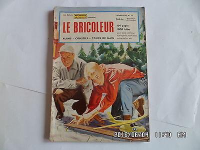 LE BRICOLEUR N°12 1956 TABLE A CAFE DESSUS DE VERRE TRAINEAU TOBOGGAN J46