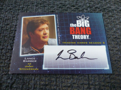 THE BIG BANG THEORY Trading Cards Season 5 signed Autogramm LANCE BARBER