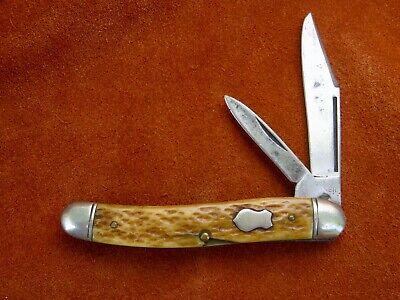 Vintage Antique Folding Pocket Knife Boker USA Premium Jack Bone 1940s NICE EDC!