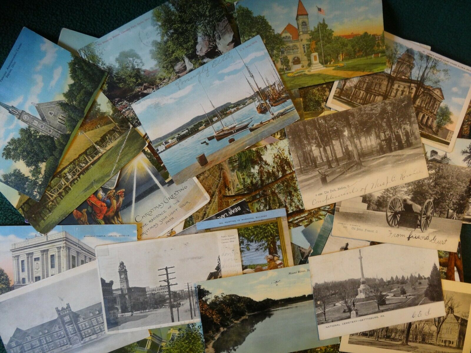 Купить LOT OF 50 + VINTAGE POSTCARDS *** USED AND UNUSED , Early 1900s ,1950s , FAST📫*