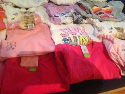 Baby girl size 00 long sleeve shirts