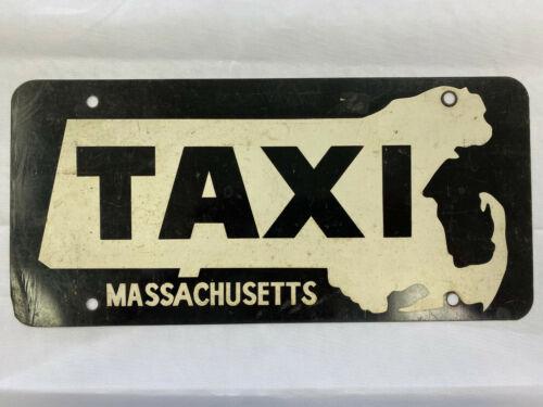 Vintage Massachusetts Taxi License Plate