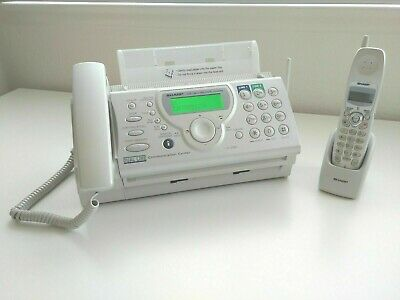 Sharp Ux-cd600 2-line Plain Paper Fax Machine Copier Corded Cordless Phone
