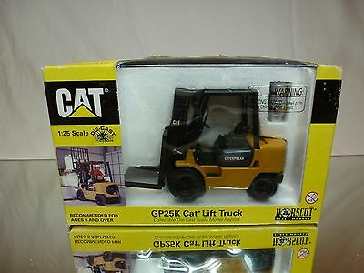NORSCOT 55071 CATERPILLAR CAT GP25K LIFT TRUCK MUSTARD 1:25 GOOD IN BOX