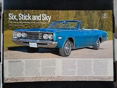1968 Mercury Montego MX Convertible - 6 Page Article (Mercury Montego Convertible)