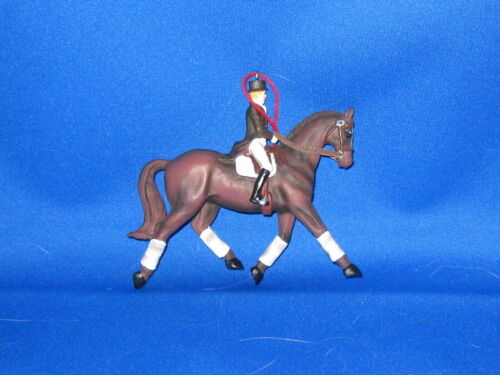 Custom Made Christmas Ornament DRESSAGE HORSE & RIDER         FREE SHIPPING