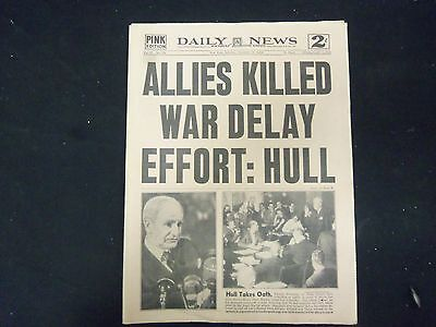 1945 Nov 24 New York Daily News   Allies Killed War Delay Effort  Hull   Np 2183