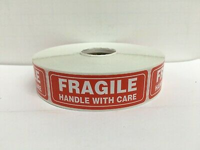3 Rolls FRAGILE Handle w/ Care Caution Shipping Stickers ( 1