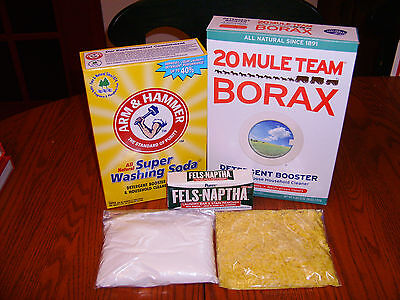 10 Gallone Kit (10 GALLON HOMEMADE LAUNDRY  DETERGENT  SOAP KIT ( 1 Gallon Recipe Included ))