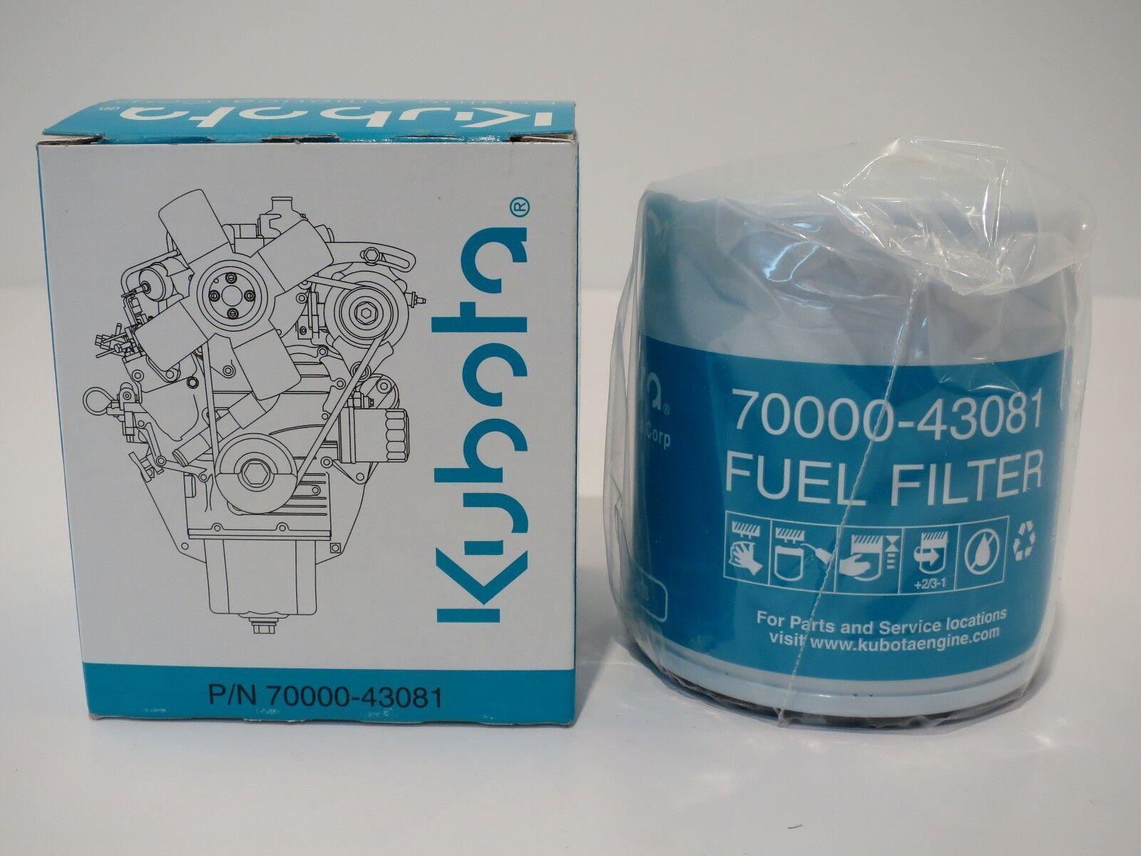 2 New Kubota Fuel Filters 15221 43080 70000 43081