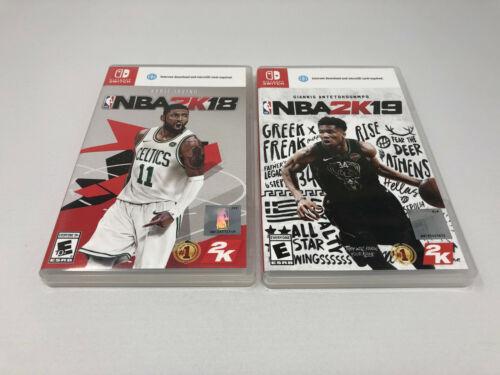NINTENDO SWITCH NBA 2K18 AND 2K19 GAME GAMES LOT NBA BASKETBALL