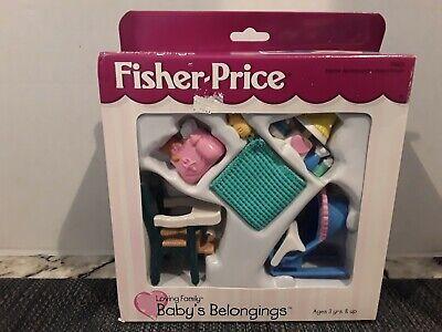 1999 FISHER PRICE Loving Family Dollhouse- Baby's Belongings NIB