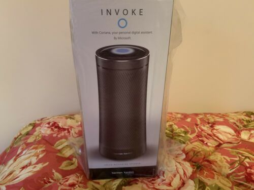 Harman Kardon Invoke Voice-activated Speaker With Cortana Graphite (NEW SEALED)
