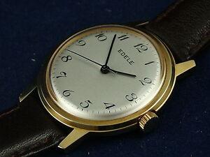 Vintage Retro Edele Swiss Gents Mechanical Watch, NOS, 70's