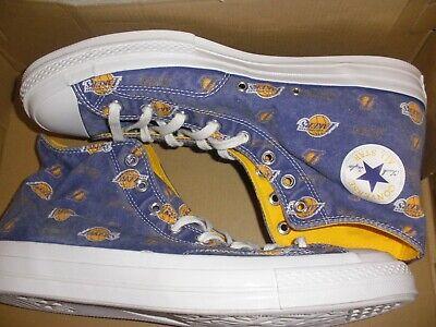mens size 12 L.A. Lakers Converse CTAS 70 Hiker hi shoe 161160c