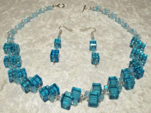 Turquoise Swarovski  Crystal & Turquoise Celestial Crystal Necklace Set