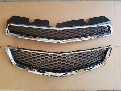 fits 2010-2015 CHEVY EQUINOX Front Bumper Upper & Lower Grille PAIR SET 2PC