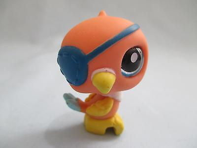 Littlest Pet Shop 882 Blue Glass Eye Patch Pirate Parrot Bird LPS 100% Authentic