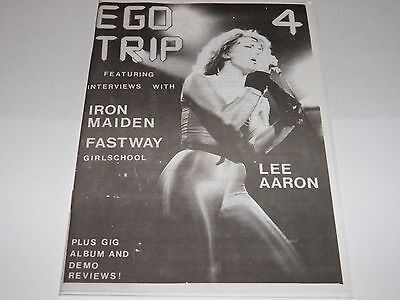 Ego Trip No 4 - UK Fanzine 1983 Vintage Iron Maiden Lee Aaron Fastway NWOBHM