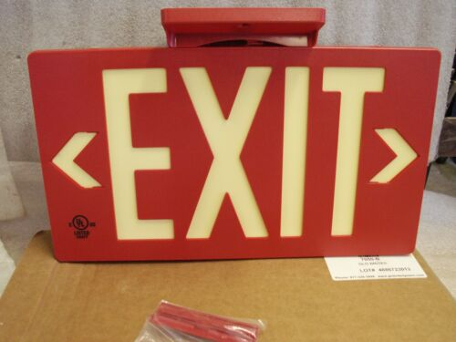 Jessup GloBrite Red Exit Sign Single Sided Photoluminescent Systems 7050B   (FF)