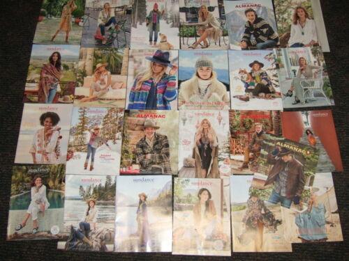 Lot of 25 SUNDANCE CATALOGS 2018-2020 gifts JEWELRY clothing men women fashion
