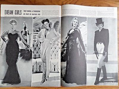 1943 Movie Ad Dream Girls O'Hara Booth Williams Eyland Gardner