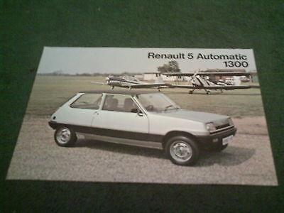 1978 / 1979 RENAULT 5 AUTOMATIC - UK SINGLE SHEET BROCHURE