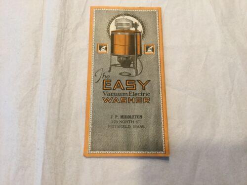"Syracuse Washing Machine ""The Easy Vacuum Electric Washer"" advertising brochure"