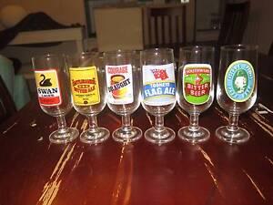 1970's retro Aussie Beer Glasses Surfers Paradise Gold Coast City Preview