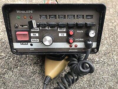 Whelen 295hfsa6 200 Watt Siren Amplifier Wharness Police Car Take-out Equipment
