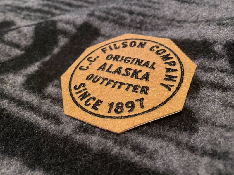 C.C. Filson Company Patch New Without Bag Octogon Since 1897