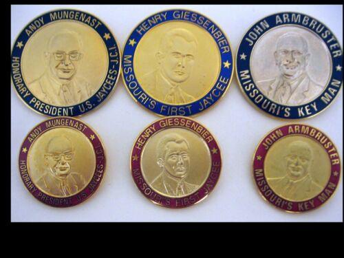 Missouri Jaycees Dignitary Round Medallion Fund Raising Rare Pins