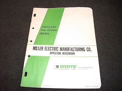 White Miller Four Cylinder Diesel Parts List Manual