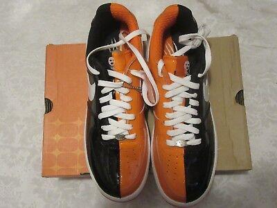 Nike AF1 Air Force 1 Premium Halloween Black Orange 313641 011 Size 10.5 - Air Force 1 Premium Halloween