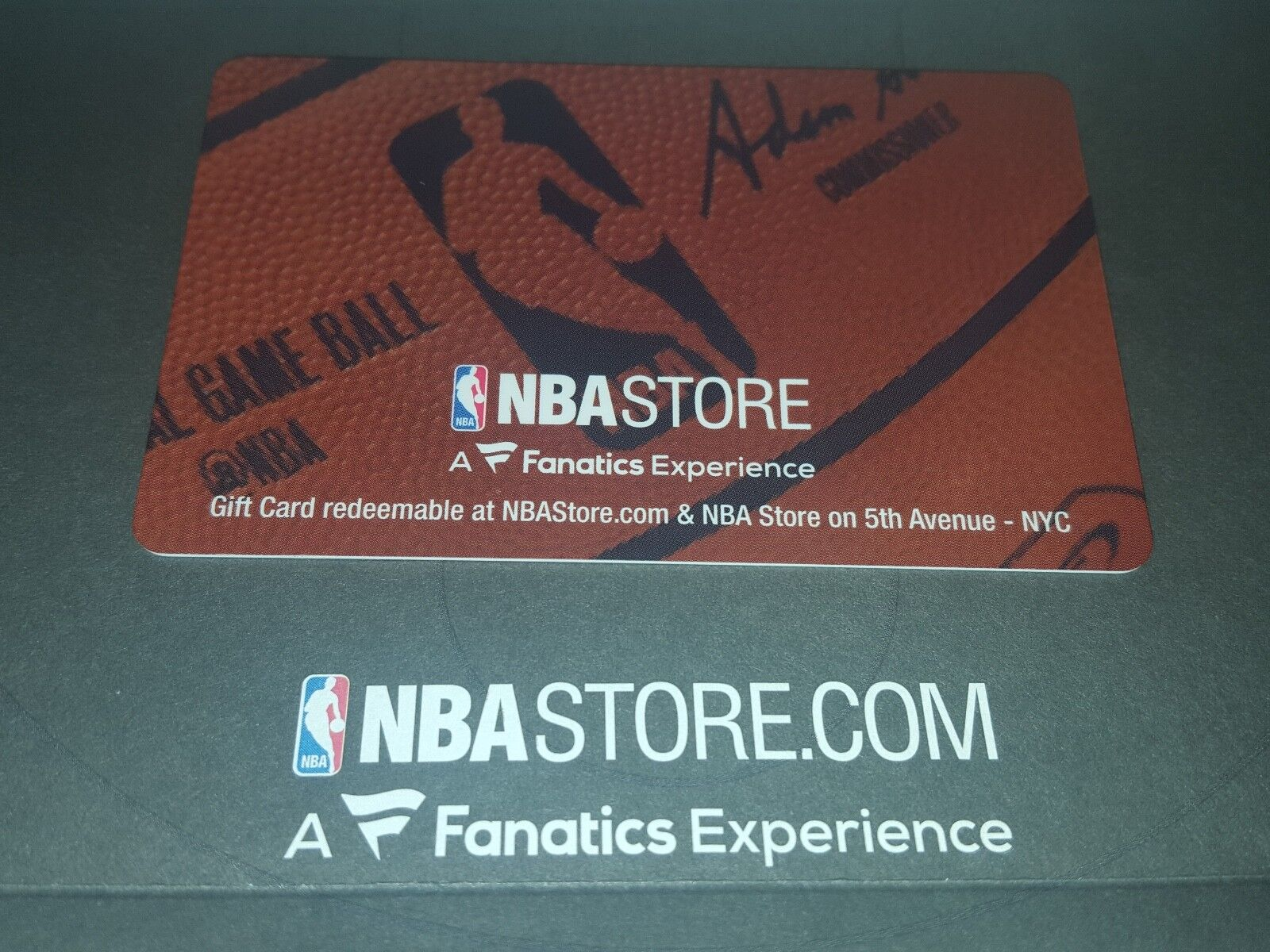 NBA Store 75.00 Gift Card. The Total Value Is 75.00 plastic Gift Card  - $60.00