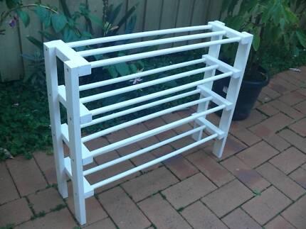 New Timber 4 Tiers Shoe Rack (#3)