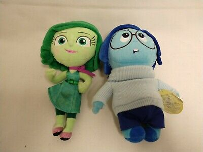 "Disney Store Disgust Sadness Inside Out Plush 10.5"" Soft Doll Toy Pixar - Nice!"