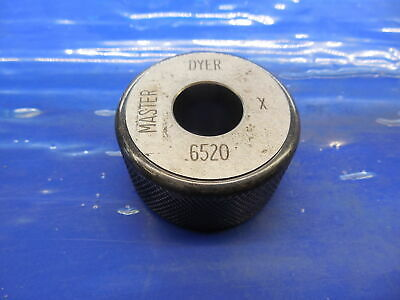 .6520 Class X Master Plain Bore Ring Gage .6563 -.0043 Undersize 2132 16.561 Mm