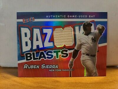 2004 RUBEN SIERRA TOPPS BAZOOKA BLASTS GU BAT RELIC01/25 NEW YORK YANKEES