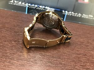 Fossil rose gold mechanical men's watcv